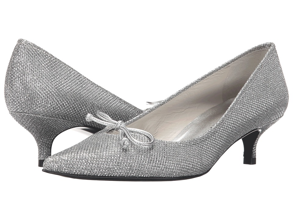 Stuart Weitzman Bridal & Evening Collection - Lopanache (Silver Noir) Women's 1-2 inch heel Shoes