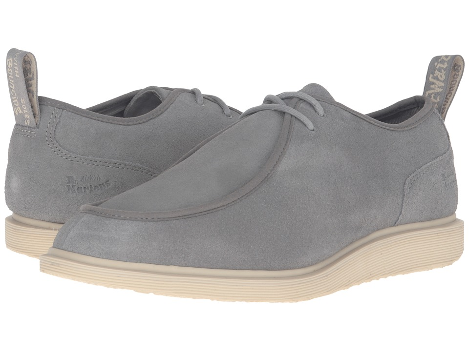 Dr. Martens - Leverton 2-Eye Shoe (Grey Mare Hi Suede) Lace up casual Shoes