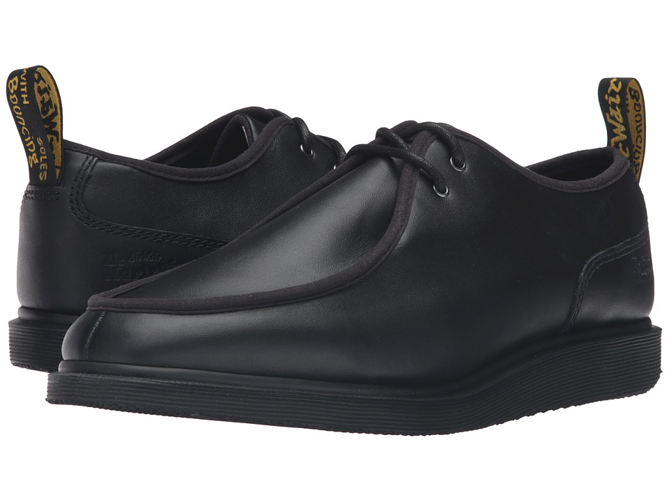 Dr. Martens Leverton 2-Eye Shoe (Black Softy T) Lace up casual Shoes