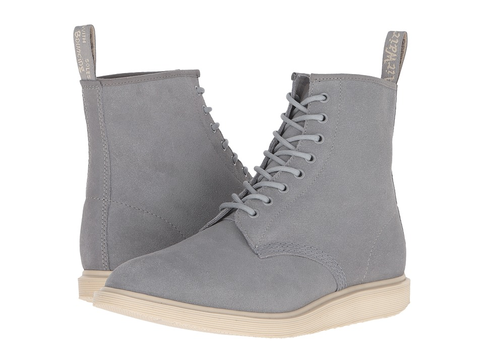 Dr. Martens - Whiton 8-Eye Boot (Grey Mare Hi Suede) Lace-up Boots