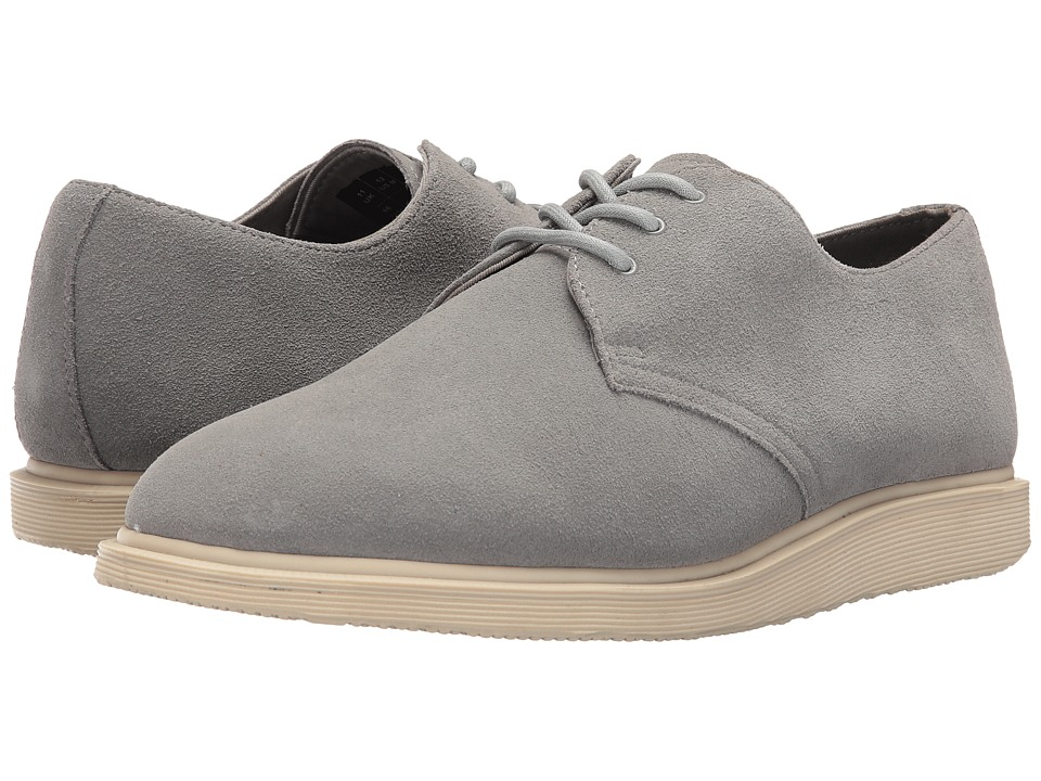 Dr. Martens - Torriano 3-Eye Shoe (Grey Mare Hi Suede) Lace up casual Shoes