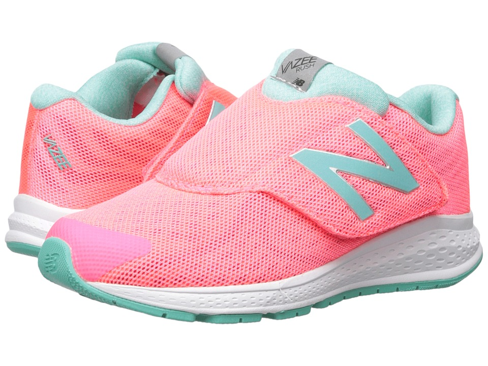New Balance Kids - Vazee Rush v2 A/C (Little Kid) (Pink/Teal) Girls Shoes