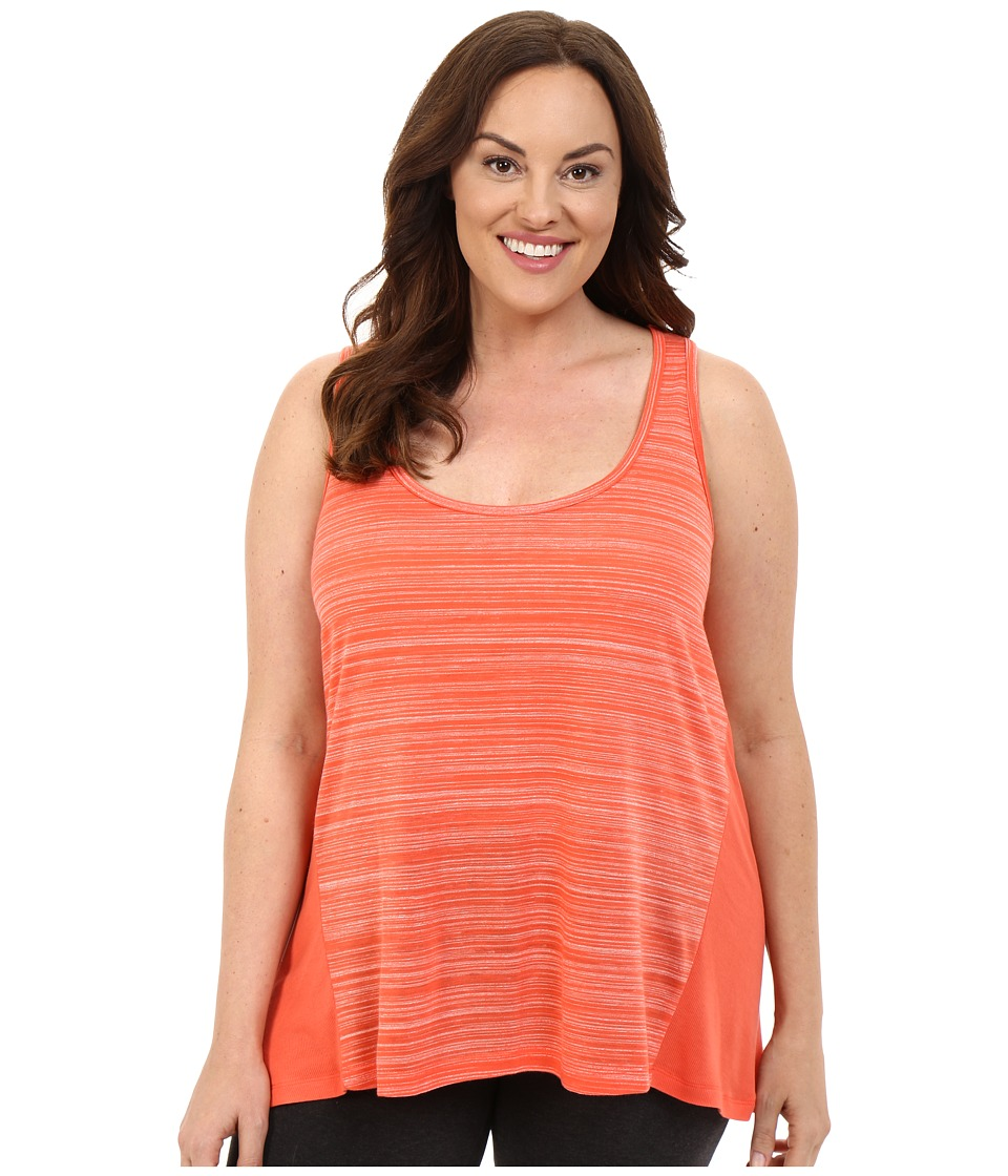 Marika Curves - Plus Size Swing Singlet (Heather Tangerine Tango) Women's Sleeveless