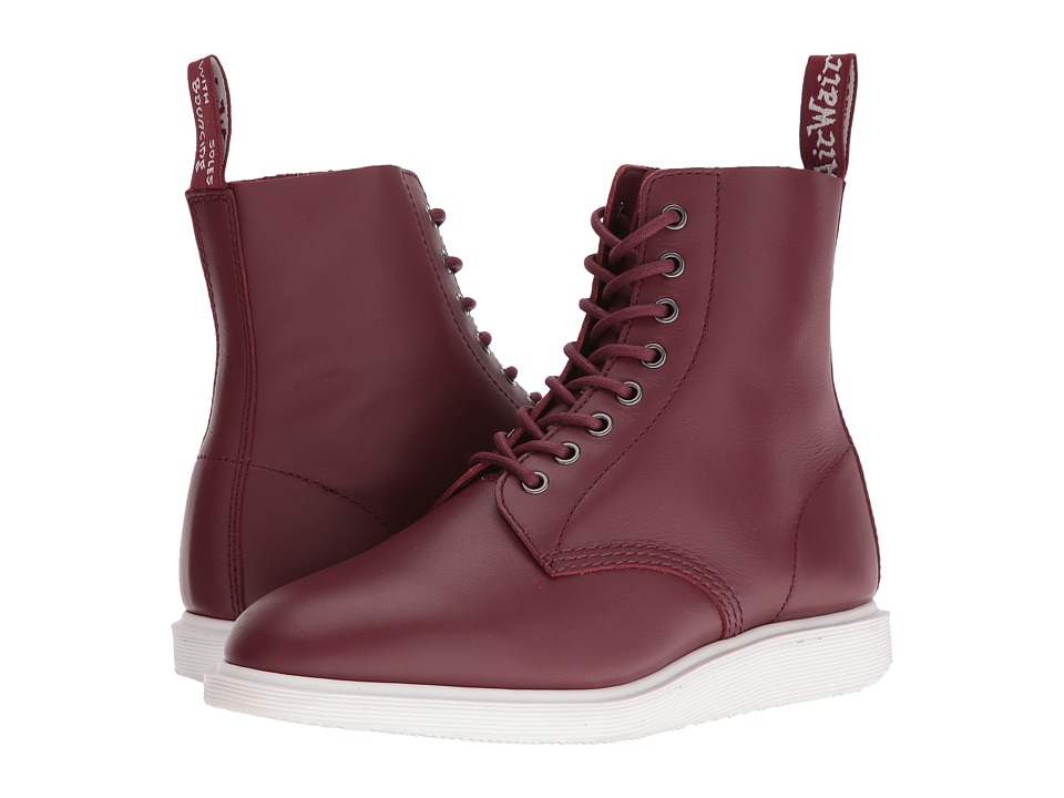 Dr. Martens Whiton 8-Eye Boot (Cherry Red Softy T) Lace-up Boots
