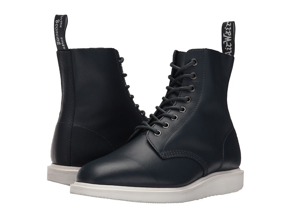 Dr. Martens Whiton 8-Eye Boot (Navy Softy T) Lace-up Boots
