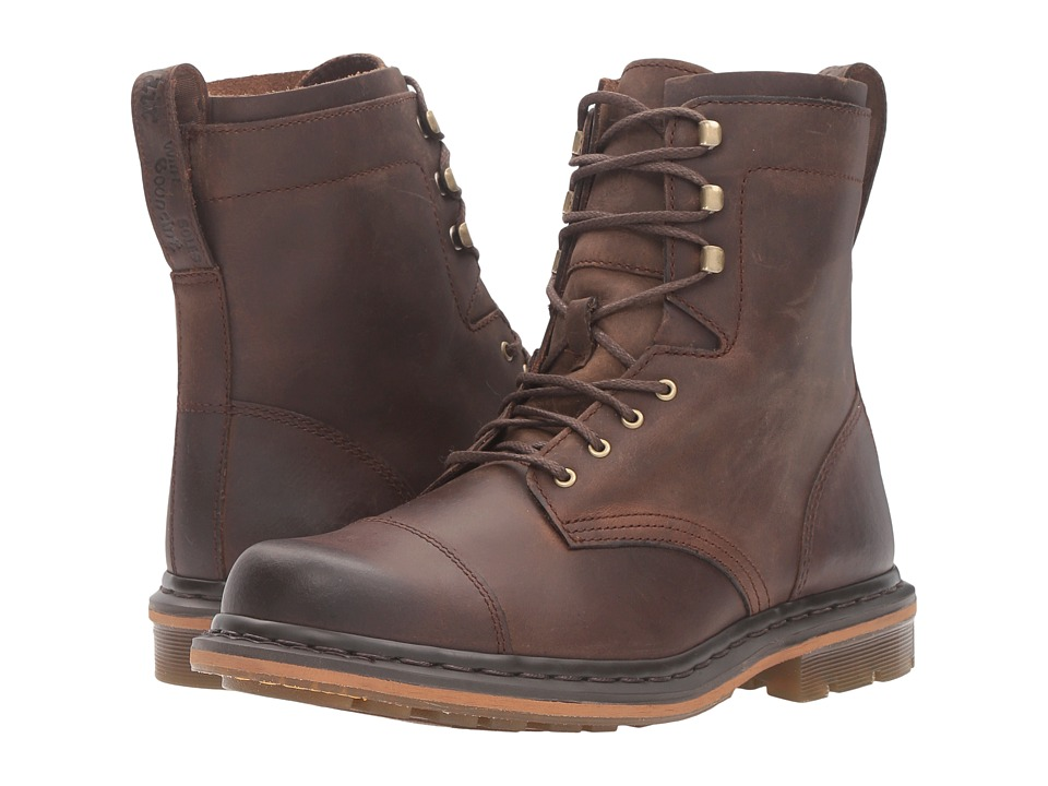 Dr. Martens - Sabien 7-Tie Boot (Brown Kingdom) Lace-up Boots
