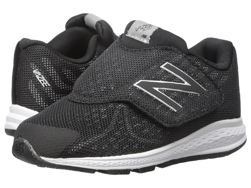 New Balance Kids Vazee Rush v2 (Infant/Toddler) (Black/Silver) Boys Shoes