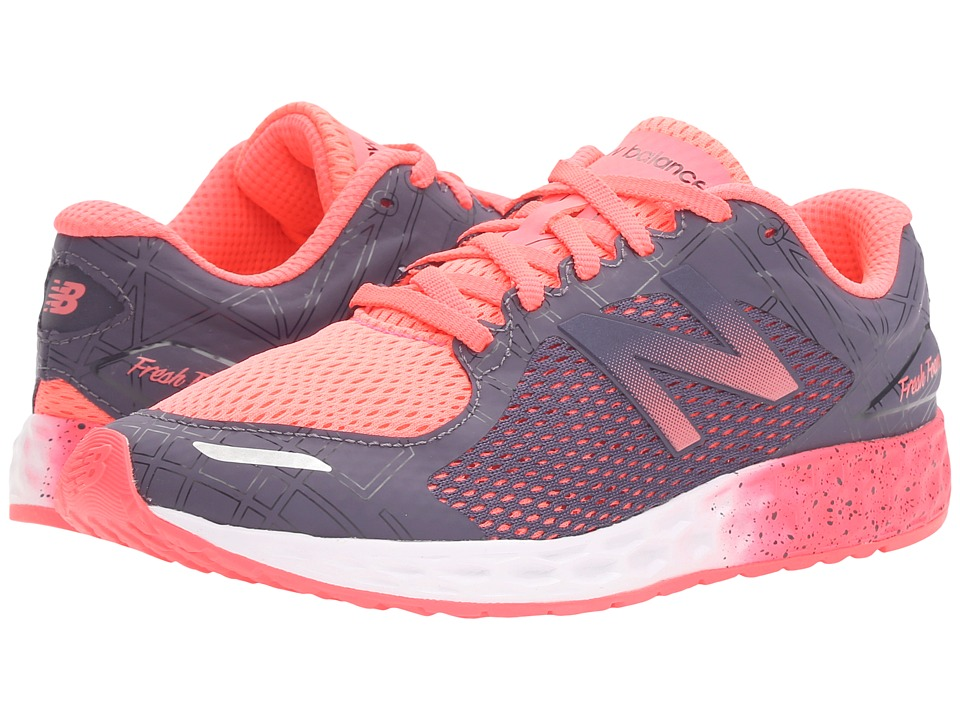 New Balance Kids - Fresh Foam Zante (Little Kid/Big Kid) (Guava/Grey) Girls Shoes