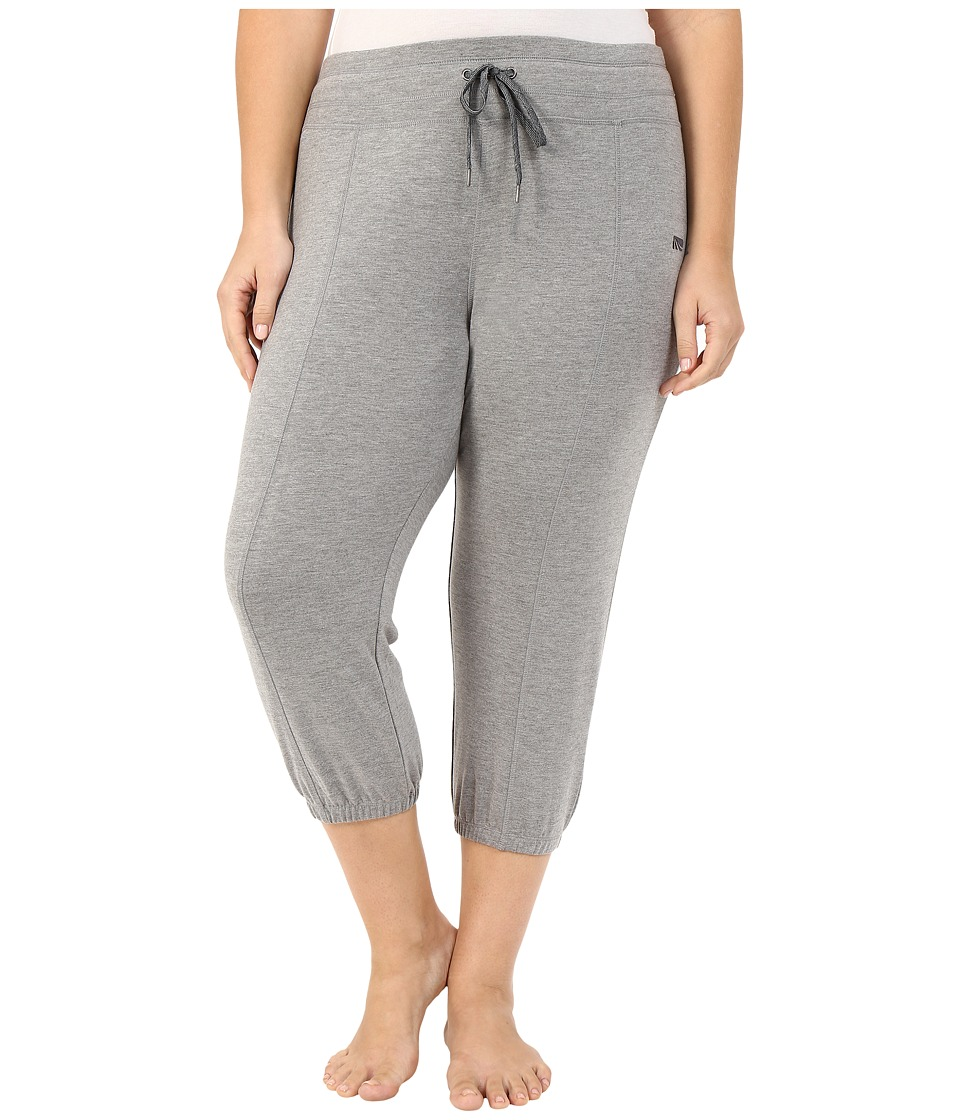 Marika Curves Plus Size Kasey Slouch Capri Jogger (Heather Grey) Women