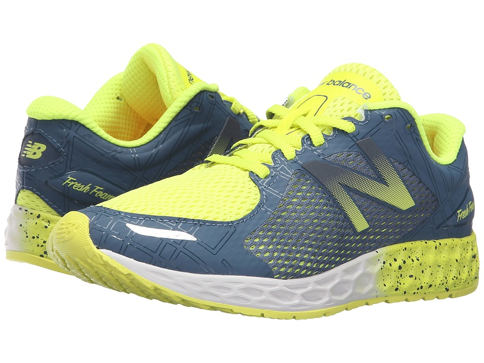 New Balance Kids Fresh Foam Zante (Little Kid/Big Kid) (Firefly/Grey) Boys Shoes