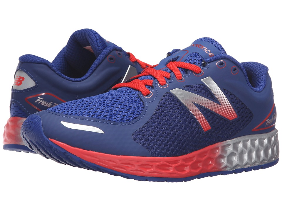 New Balance Kids - Fresh Foam Zante (Little Kid/Big Kid) (Blue/Orange) Boys Shoes