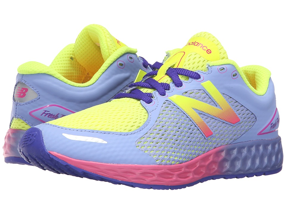 New Balance Kids - Fresh Foam Zante (Little Kid/Big Kid) (Yellow/Purple) Girls Shoes