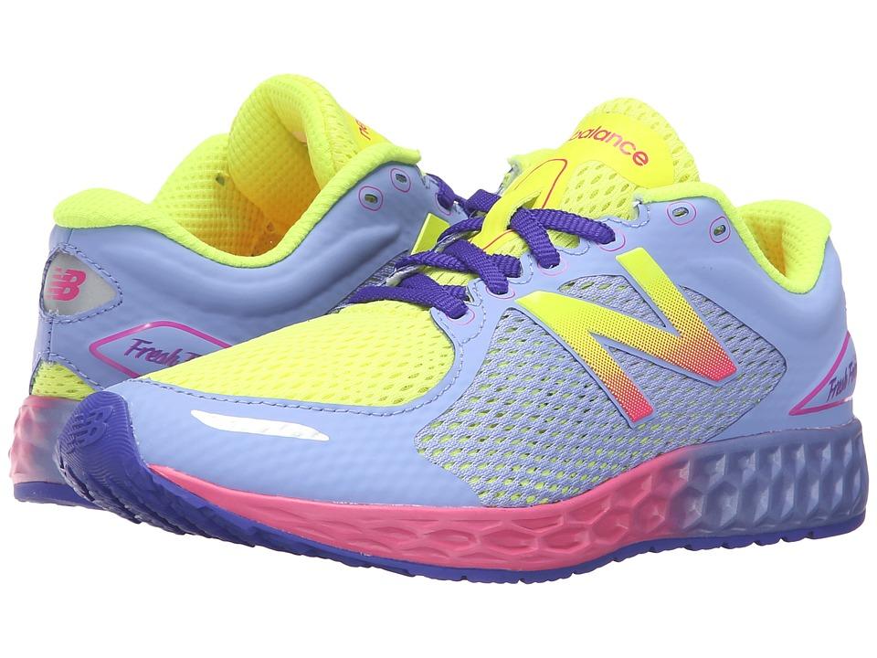 New Balance Kids Fresh Foam Zante (Little Kid/Big Kid) (Yellow/Purple) Girls Shoes