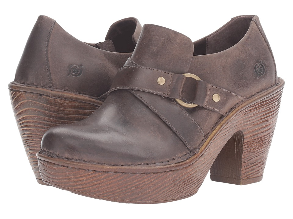 Born - Onega (Brown Full Grain Leather) Women's Clog Shoes