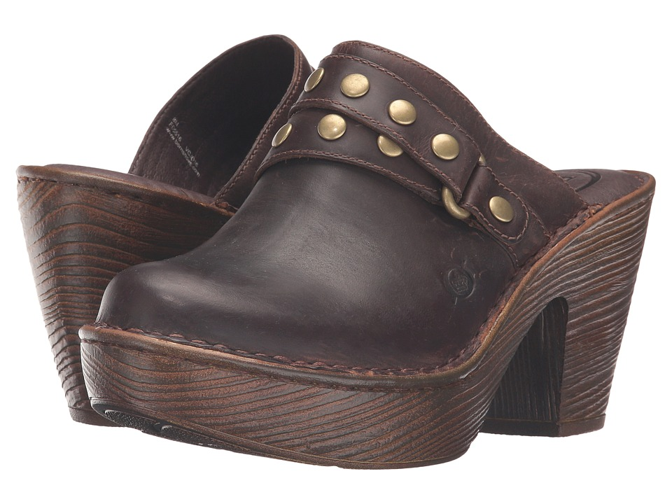 Born - Marney (Sand Full Grain Leather) Women's Clog Shoes