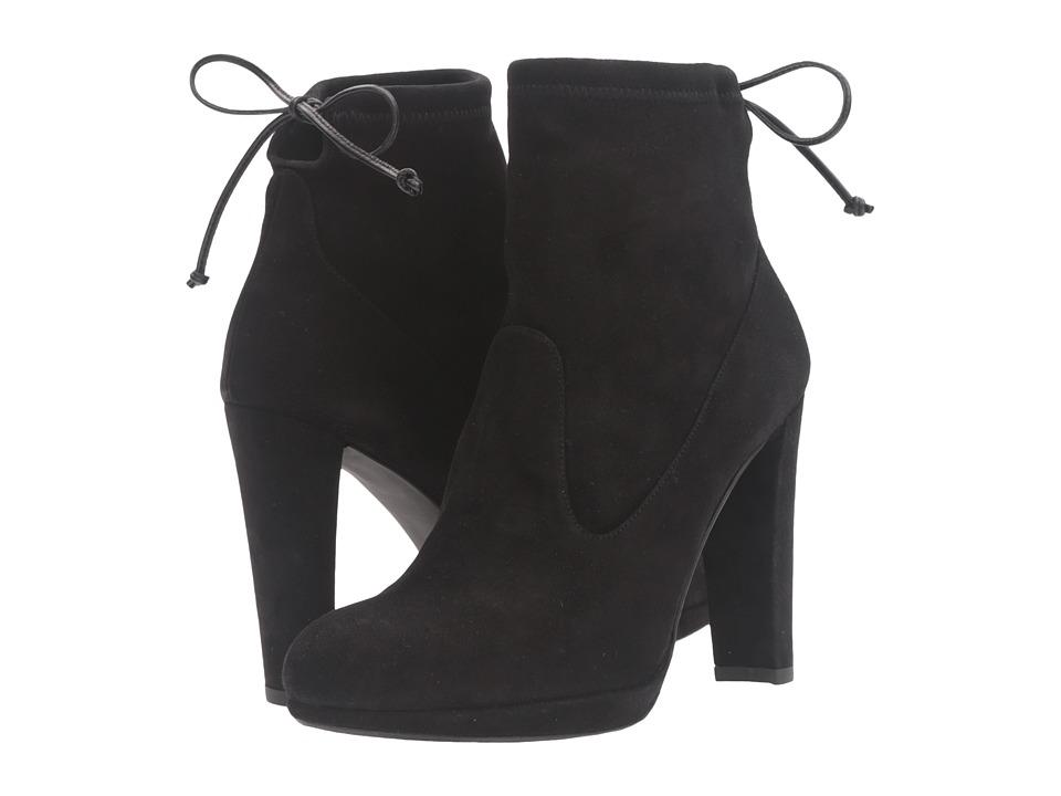 Stuart Weitzman - Platglove (Black Suede) Women's Shoes