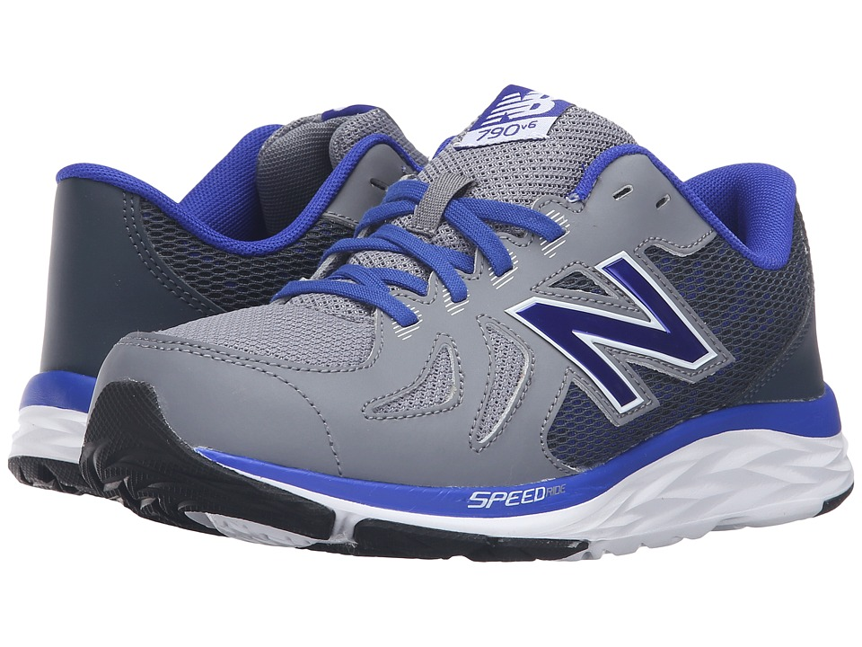 New Balance Kids 790v5 (Little Kid/Big Kid) (Grey/Blue) Boys Shoes