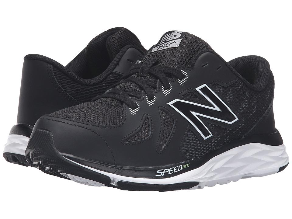 New Balance Kids 790v5 (Little Kid/Big Kid) (Black/White) Boys Shoes