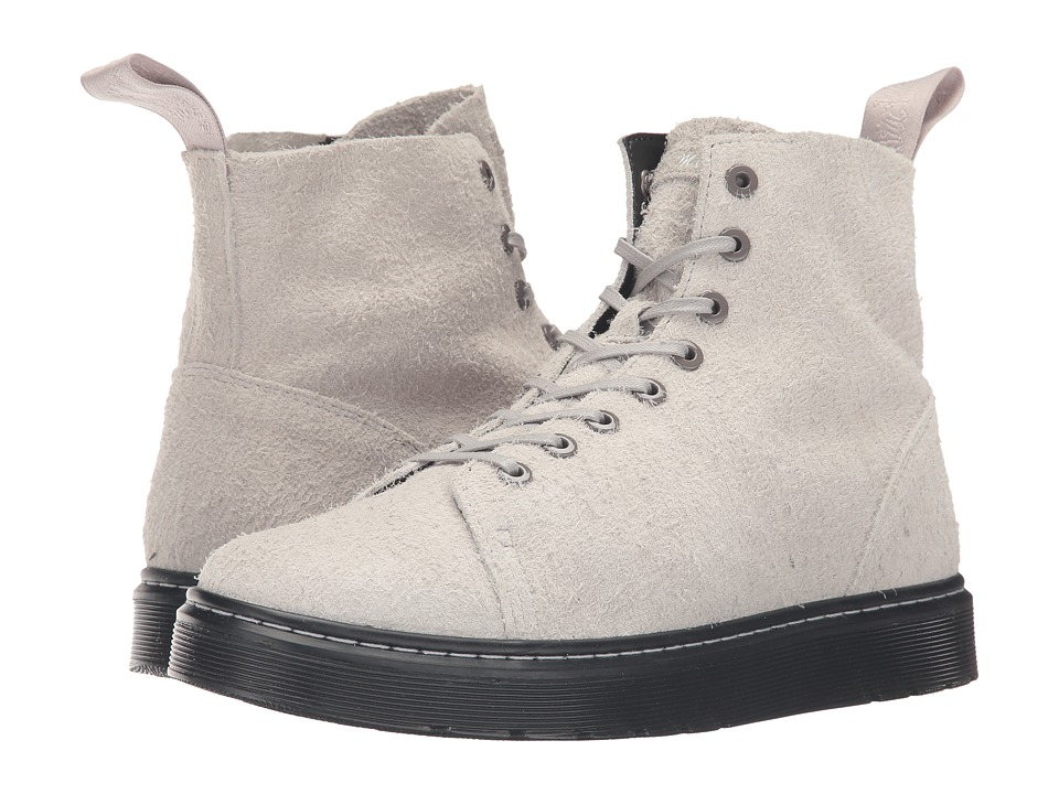 Dr. Martens - Talib 8-Eye Raw Boot (Grey Wooly Bully) Lace-up Boots