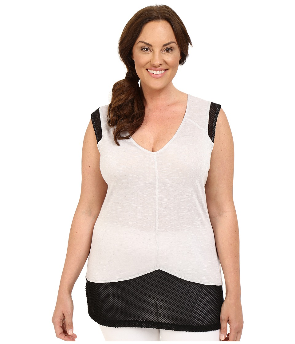 Marika Curves - Plus Size Bella Singlet (Light Grey/Black) Women's Sleeveless