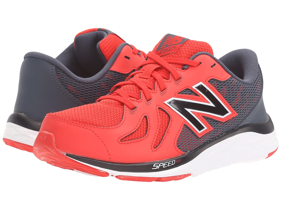 New Balance Kids 790v5 (Little Kid/Big Kid) (Red/Grey) Boys Shoes