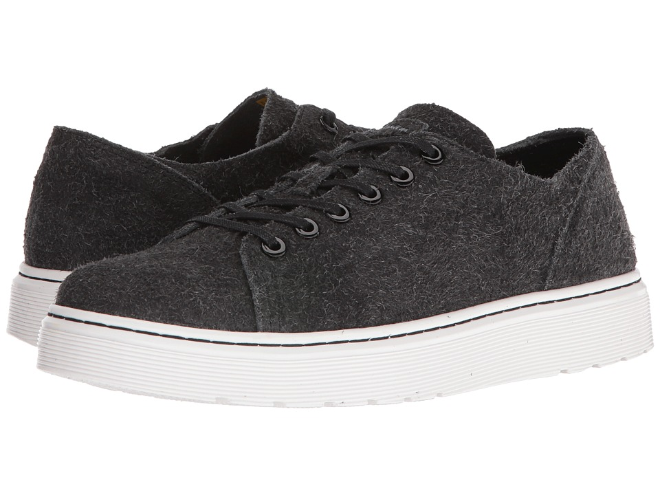 Dr Martens Dante 6-Eye Raw Shoe (Black Wooly Bully) Lace ...