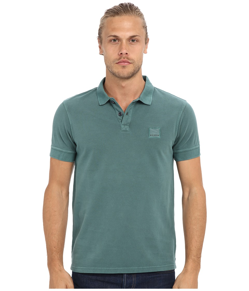 BOSS Orange - Pascha Slim Fit Saltwash Piquet Polo (Green) Men's Short Sleeve Pullover