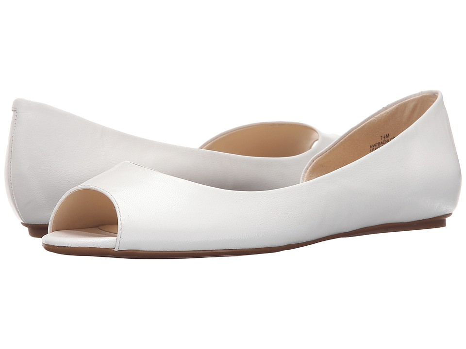 Nine West Bachloret (White Leather) Women