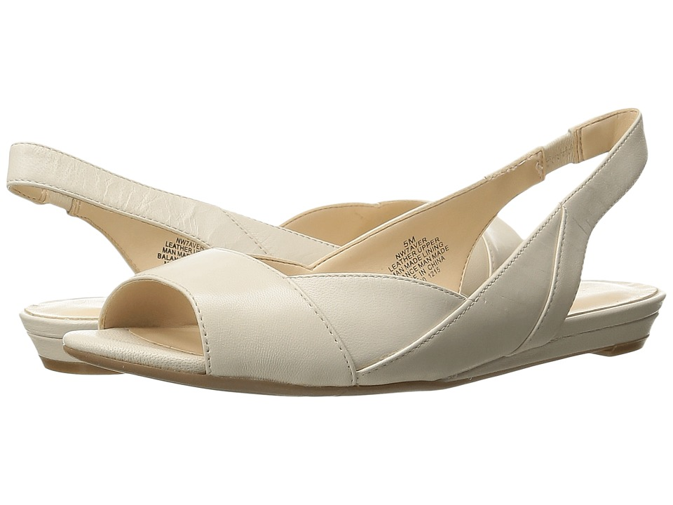 Nine West - Aver (Off White Leather) Women's Flat Shoes