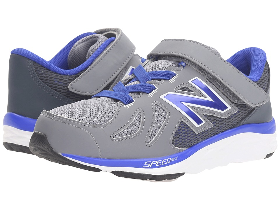 New Balance Kids 690V5 (Little Kid) (Grey/Blue) Boys Shoes