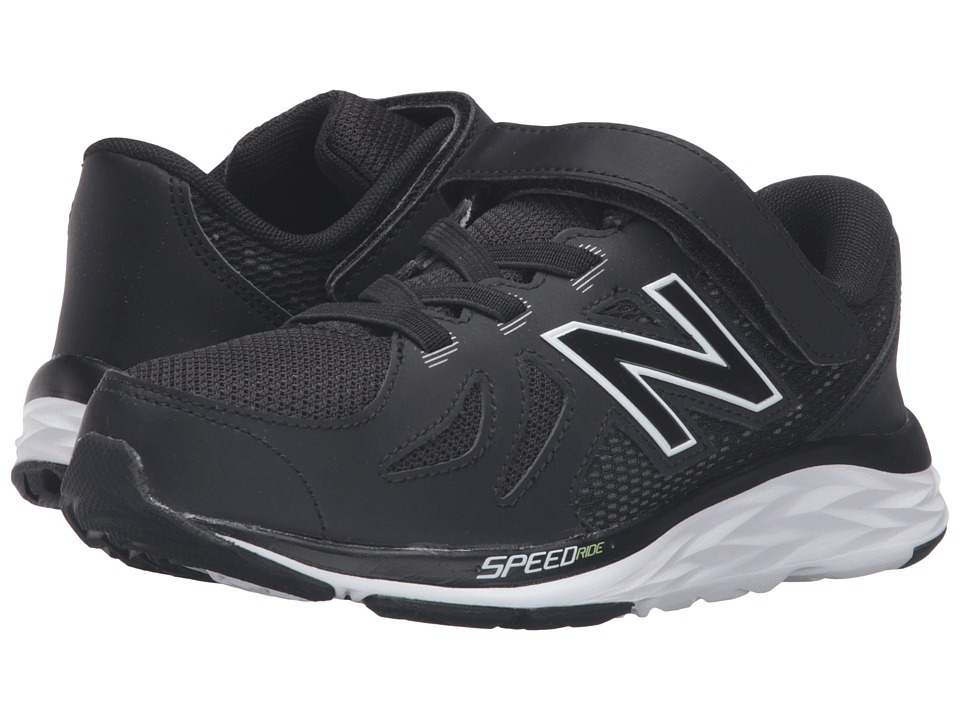 New Balance Kids 690V5 (Little Kid) (Black/White) Boys Shoes