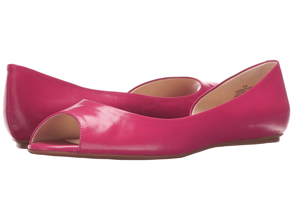 Nine West - Bachloret (Pink Leather) Women's Flat Shoes