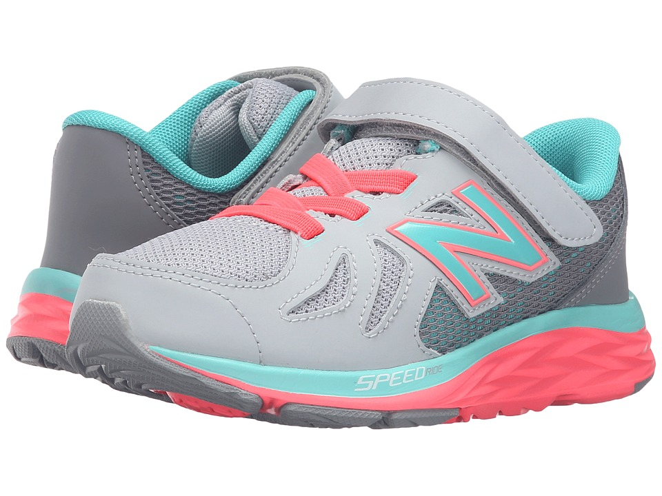 New Balance Kids - 790V5 (Little Kid) (Grey/Green) Girls Shoes