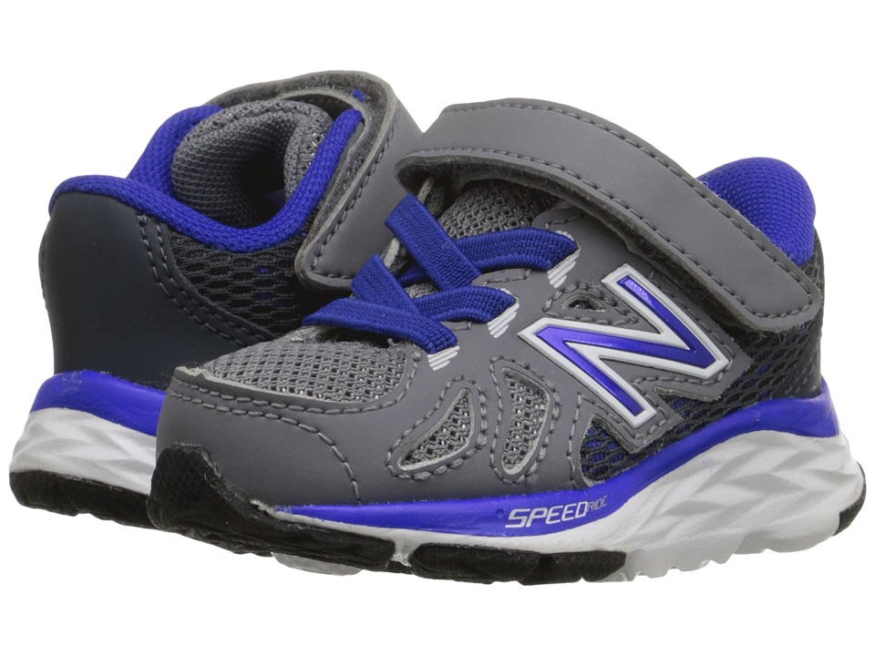 New Balance Kids 690V5 (Infant/Toddler) (Grey/Blue) Boys Shoes