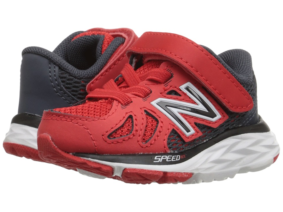 New Balance Kids 690V5 (Infant/Toddler) (Red/Grey) Boys Shoes