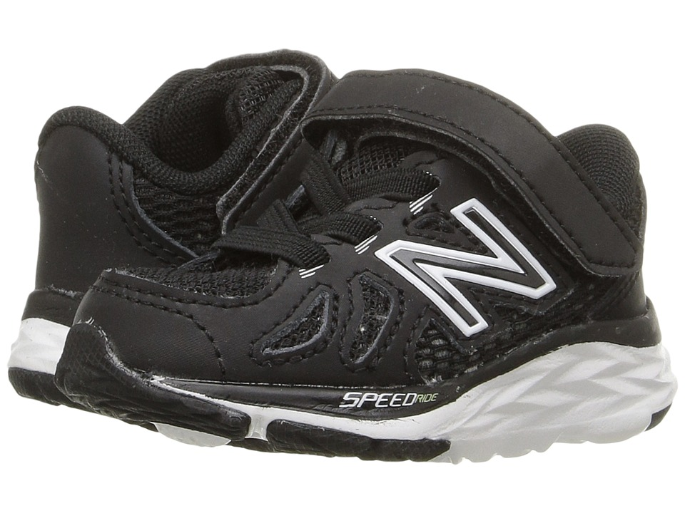 New Balance Kids 690V5 (Infant/Toddler) (Black/White) Boys Shoes