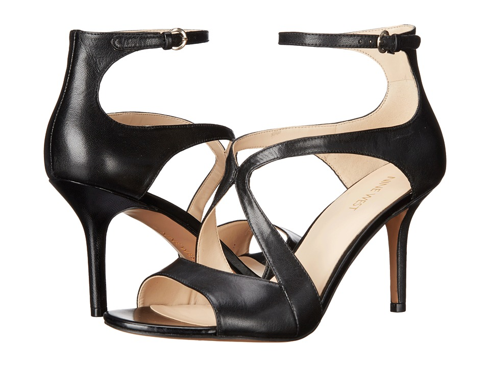Nine West - Gerbera (Black Leather) High Heels