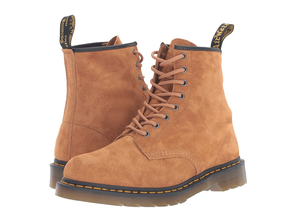 Dr. Martens - 1460 (Tan Soft Buck) Lace-up Boots