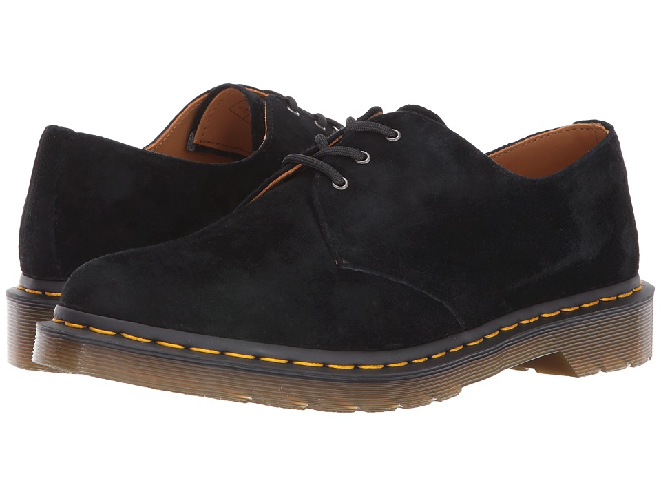 Dr. Martens 1461 3-Eye Gibson (Black Soft Buck) Lace up casual Shoes