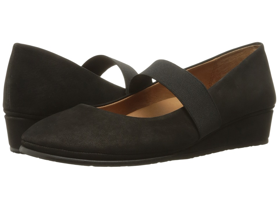 Gentle Souls - Aria (Black Nubuck) Women's Flat Shoes