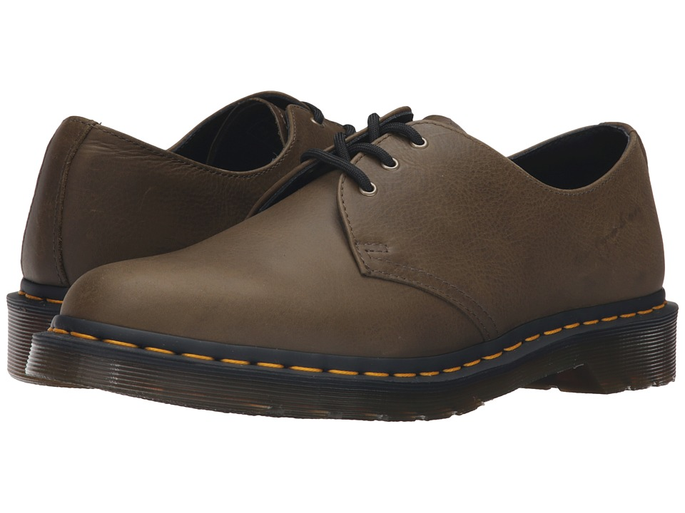 Dr. Martens - 1461 3-Eye Gibson (Grenade Green Carpathian) Lace up casual Shoes