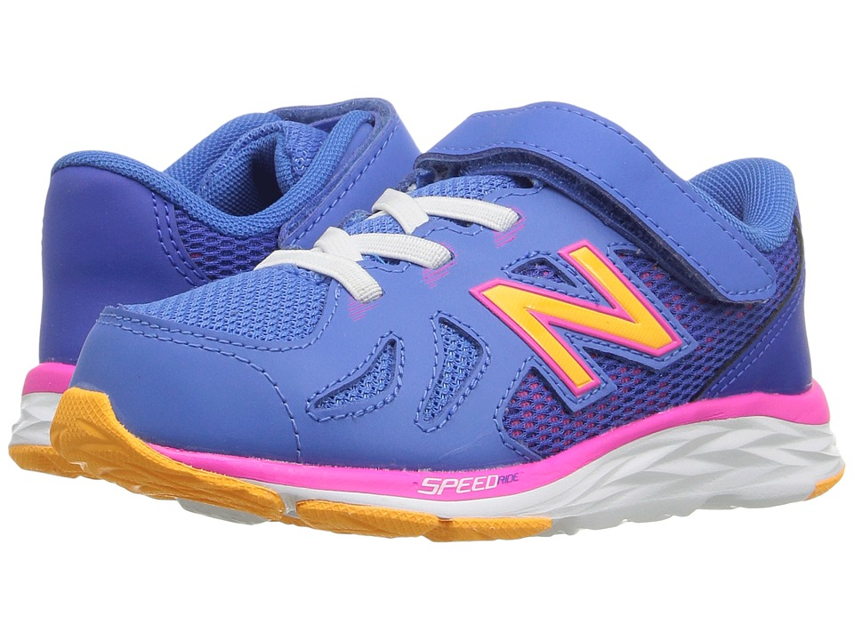 New Balance Kids - 690V5 (Infant/Toddler) (Blue/Pink) Girls Shoes