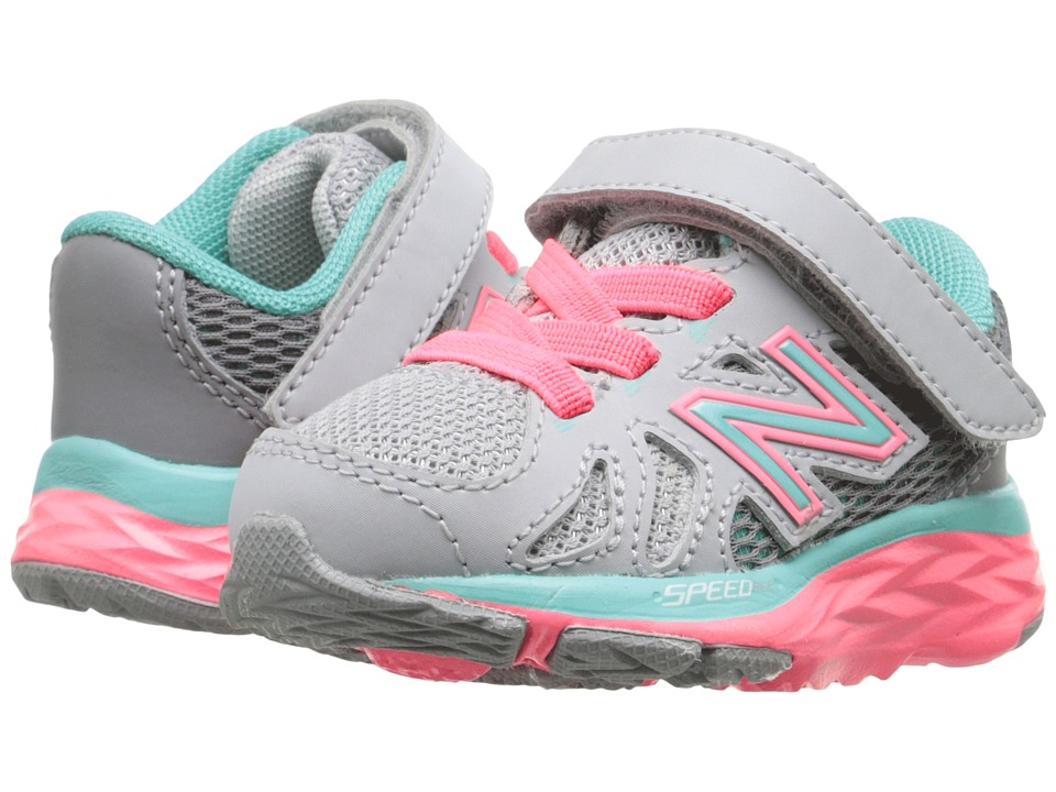 New Balance Kids - 690V5 (Infant/Toddler) (Grey/Green) Girls Shoes