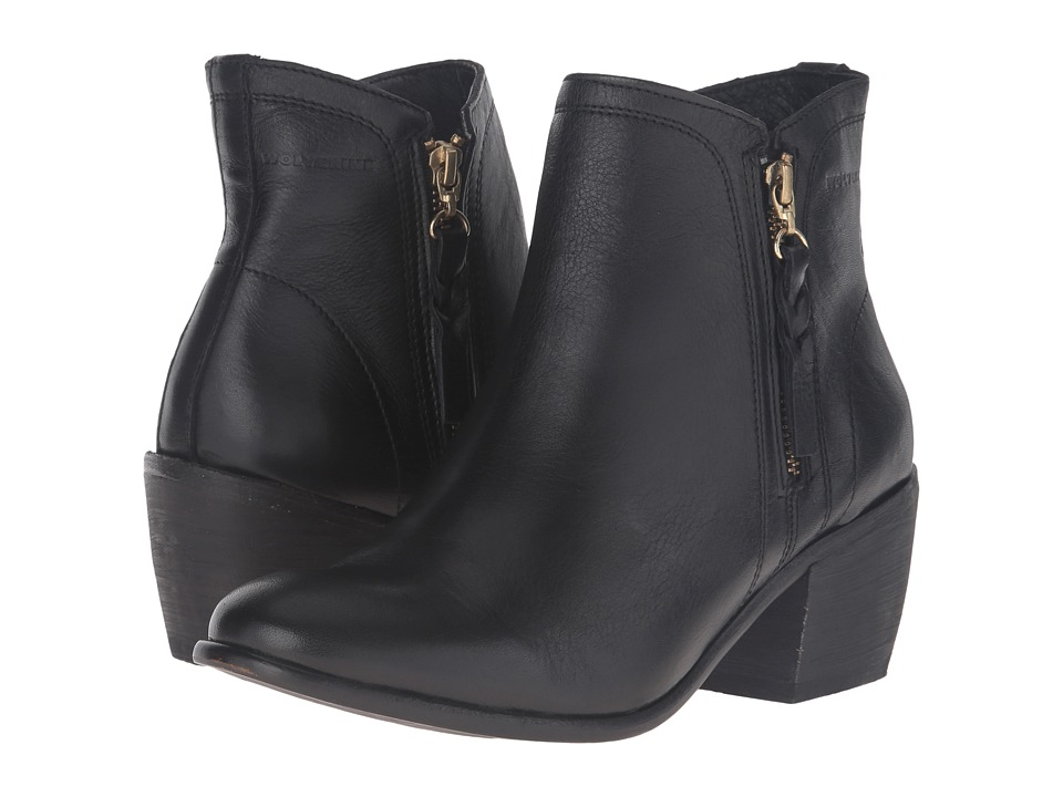 Wolverine - Ella 5 (Black/Black Leather) Women's Zip Boots