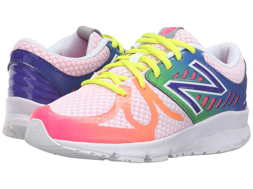 New Balance Kids 200V1 (Big Kid) (White/Rainbow) Girls Shoes