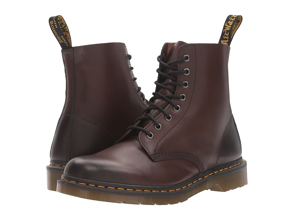Dr. Martens - Pascal 8-Eye Boot (Brown Antique Temperley) Lace-up Boots