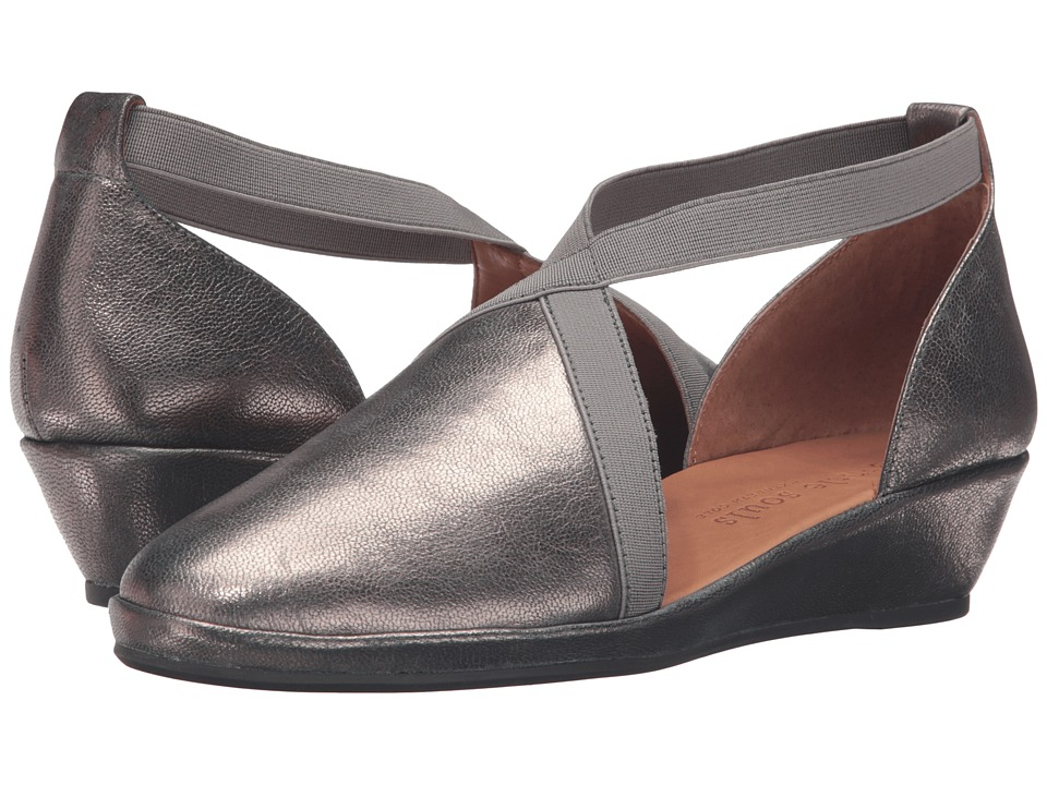 Gentle Souls - Natalia (Graphite Leather) Women's Dress Flat Shoes