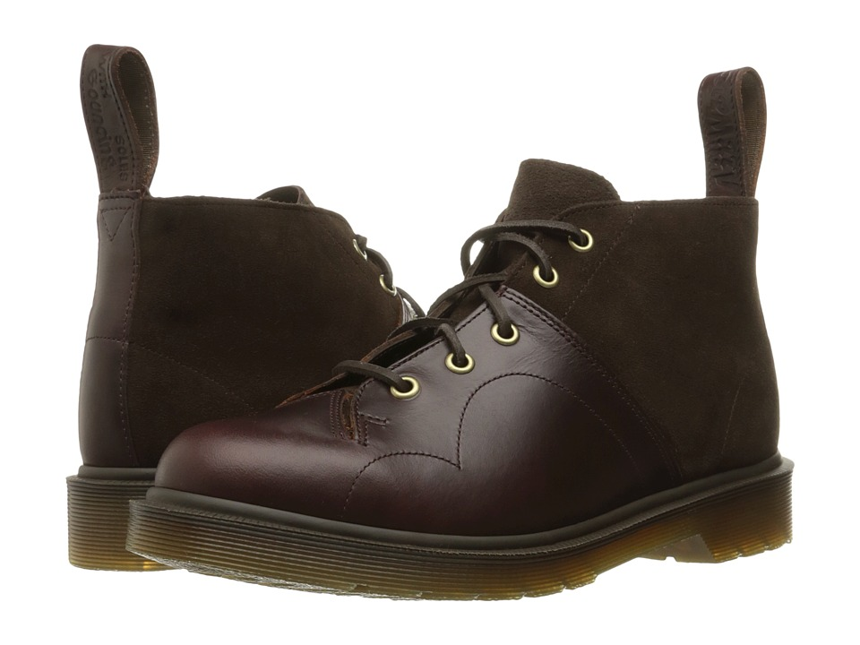 Dr. Martens - Church 7-Eye Monkey Boot (Charro Brando/Dark Brown Hi Suede WP) Lace-up Boots