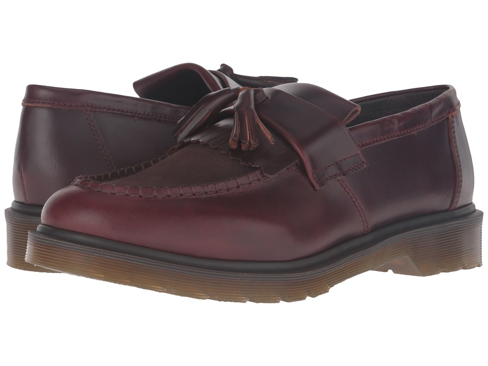 Dr. Martens - Adrian Tassle Loafer (Charro Brando/Dark Brown Hi Suede WP) Slip-on Dress Shoes