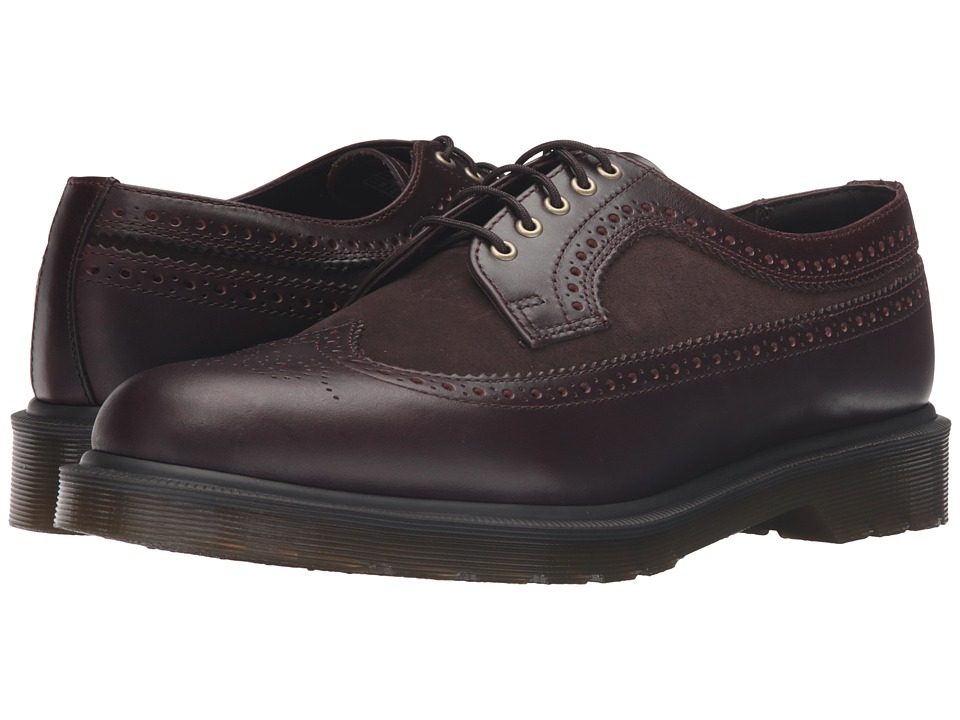Dr. Martens - 3989 Brogue Shoe (Charro Brando/Dark Brown Hi Suede WP) Lace up casual Shoes